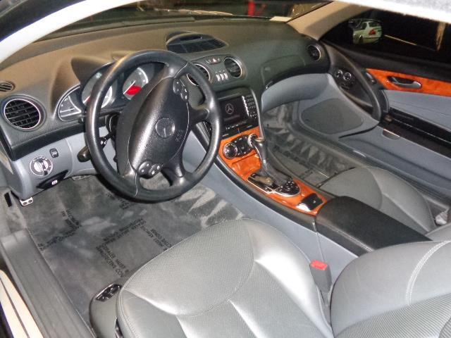 2005 MERCEDES-BENZ SL-CLASS SL500 2DR CONVERTIBLE black 20 inch lowenhart wheels center console t