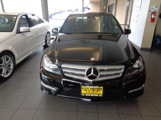 2013 MERCEDES-BENZ C-CLASS C350 SPORT 4DR SEDAN black sport package navigation heated seats amg