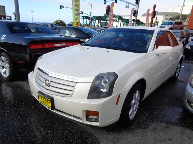 2007 CADILLAC CTS BASE 4DR SEDAN diamond white front license plate bracketinfrared paintthunder