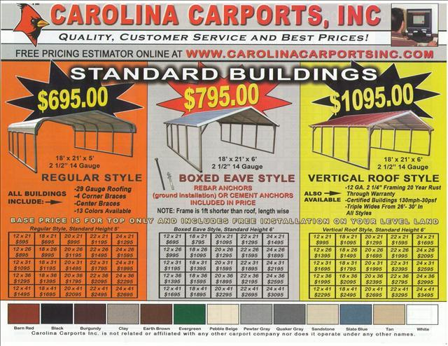 2013 xx____CARPORTS GARAGES, RV CARPORTS, SPECIALTY BUILDINGS