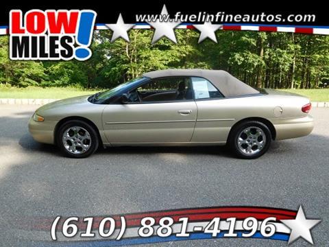 1999 Chrysler Sebring for sale in Pen Argyl, PA