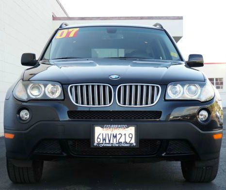 2007 BMW X3 30SI black sapphire metallic black sapphire metallic awd4wd x3 with black leather in