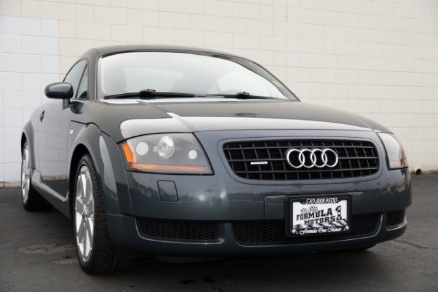 2005 AUDI TT COUPE QUATTRO dolomite gray pearl effect black pearl with ebony interior 4wd awd 18