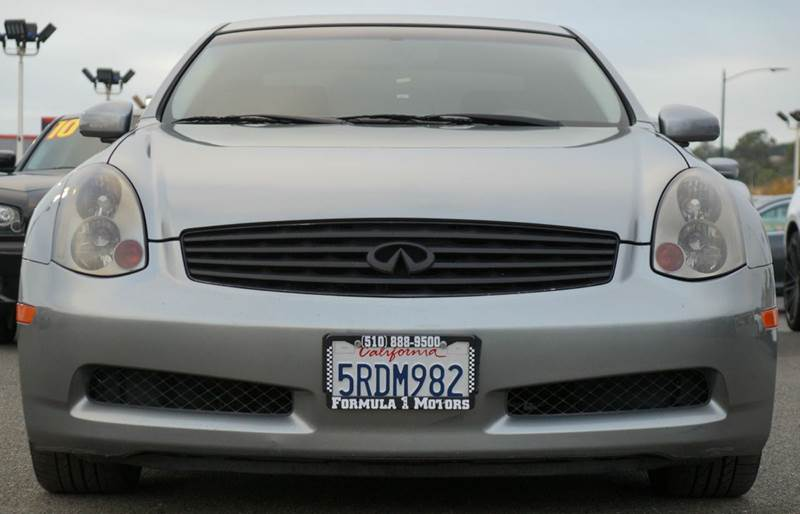 2005 INFINITI G35 BASE RWD 2DR COUPE lakeshore slate abs - 4-wheel anti-theft system - alarm cd