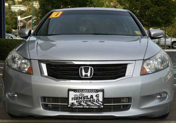 2010 HONDA ACCORD EX V-6 SEDAN AT alabaster silver metallic silver metallic ex v6 sedan great gas