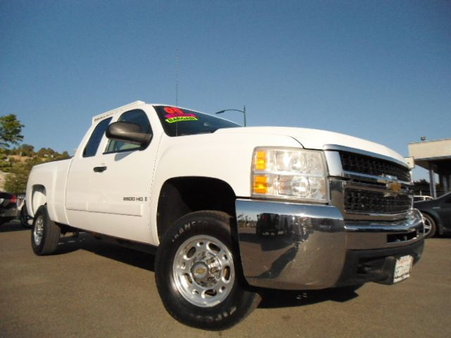 2008 CHEVROLET SILVERADO 2500 LT1 EXT CAB STD BOX 4WD white clean carfax report  brand