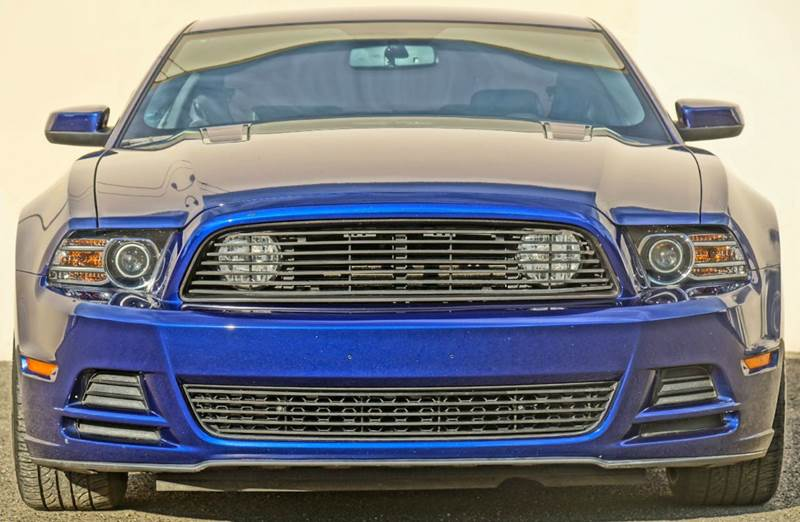 2014 FORD MUSTANG GT PREMIUM 2DR COUPE deep impact blue metallic 2-stage unlocking - remote abs