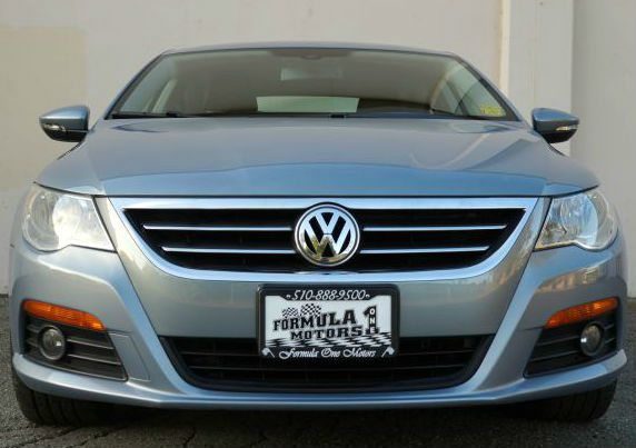 2009 VOLKSWAGEN CC SPORT laser blue metallic beautiful laser blue metallic cc sport with black le