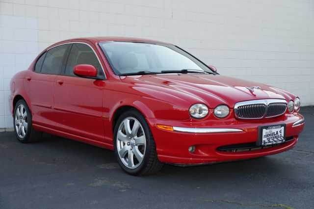 2004 JAGUAR X-TYPE 30 salsa salsa red 30 xtype with ivory leather interior with genuine wood tri