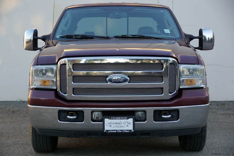 2006 FORD F-250 SUPER DUTY LARIAT 4DR CREW CAB LB dark toreador red clearcoat abs - 4-wheel anti