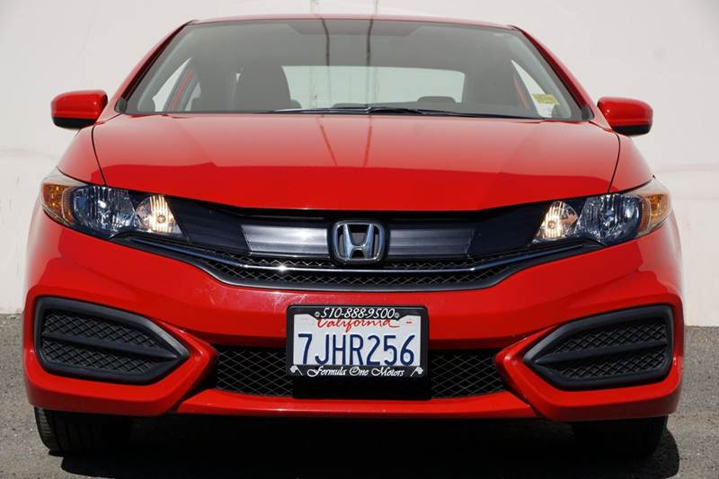 2015 HONDA CIVIC LX 2DR COUPE CVT rallye red 2-stage unlocking doors abs - 4-wheel air filtrati