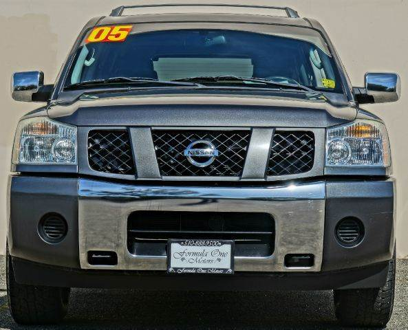 2005 NISSAN ARMADA SE 4DR SUV silver lightning abs - 4-wheel adjustable pedals - power anti-the