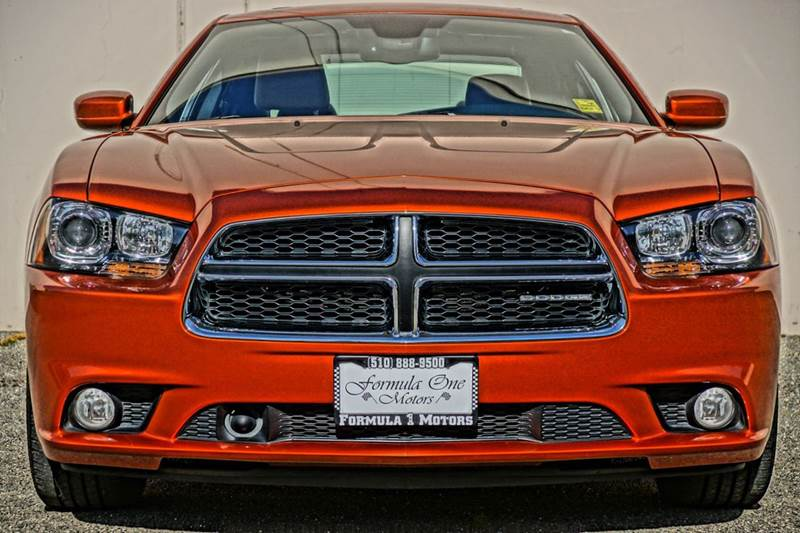 2011 DODGE CHARGER RT PLUS 4DR SEDAN toxic orange pearlcoat 2-stage unlocking doors abs - 4-whe