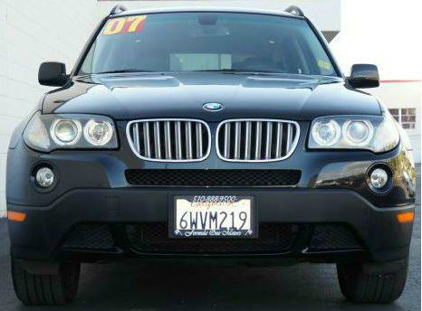 2007 BMW X3 30SI black sapphire metallic black sapphire metallic awd4wd x3 with black leather i