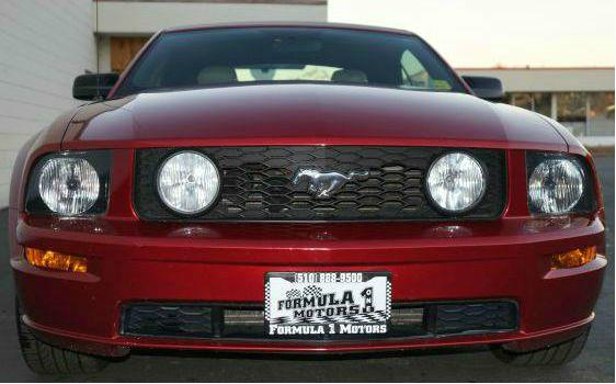 2005 FORD MUSTANG GT PREMIUM CONVERTIBLE red fire clear coat metallic beautiful red 46l gt conver