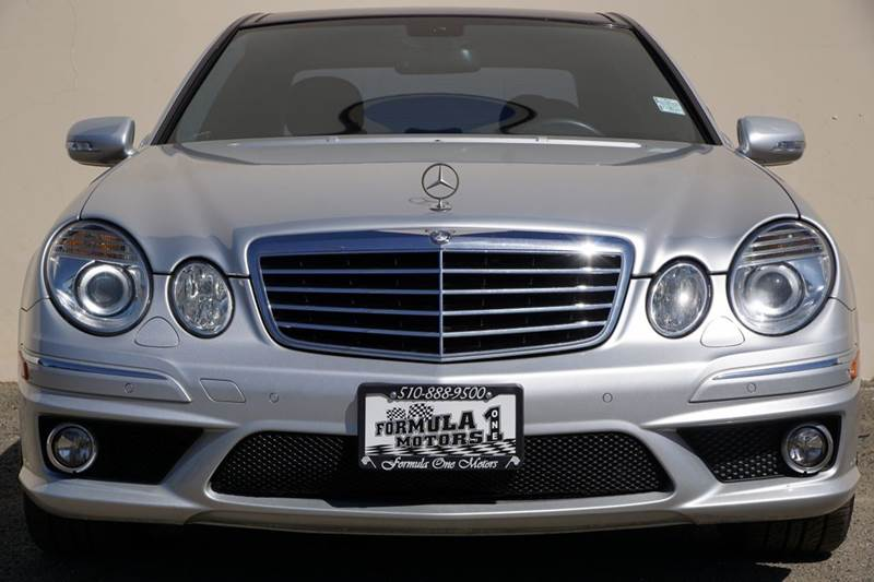 2009 MERCEDES-BENZ E-CLASS E63 AMG 4DR SEDAN iridium silver metallic 2-stage unlocking doors abs