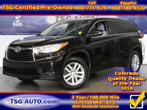 2014 Toyota Highlander for sale in Parker, CO