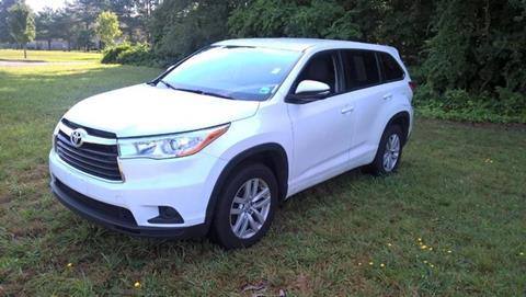 2014 Toyota Highlander for sale in Millsboro, DE