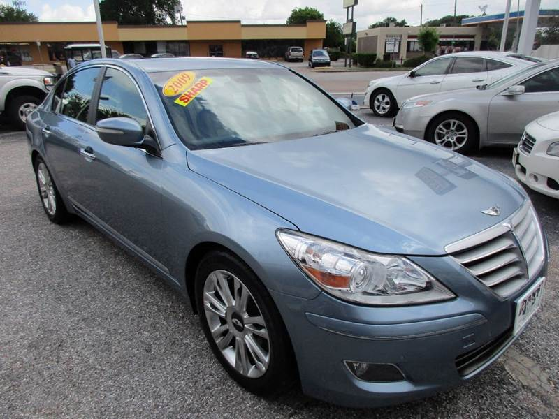 2009 HYUNDAI GENESIS 46L V8 4DR SEDAN blue hard to find 46 litre that gives you the power and dr