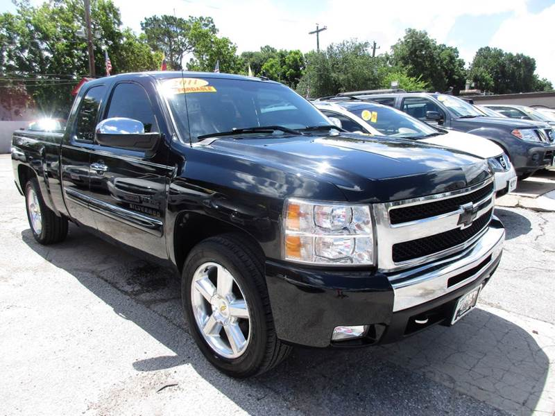 2011 CHEVROLET SILVERADO 1500 LT 4X2 4DR EXTENDED CAB 65 FT black 1 owner vehicle history report