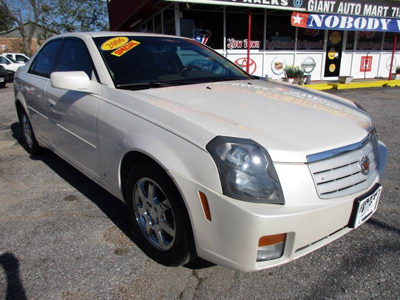 2006 CADILLAC CTS BASE 4DR SEDAN W28L pearl white nobody walks is our signature motto and tha