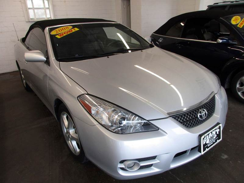 2008 TOYOTA CAMRY SOLARA SLE V6 2DR CONVERTIBLE 5A silver giant auto mart is a family owned busine