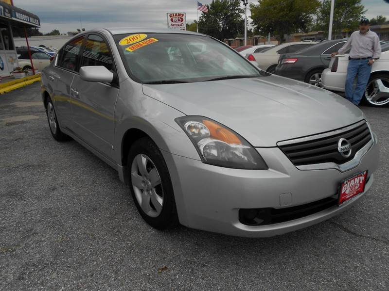2007 NISSAN ALTIMA 25 S 4DR SEDAN 25L I4 CVT silver 4 door automatic power windows door loc