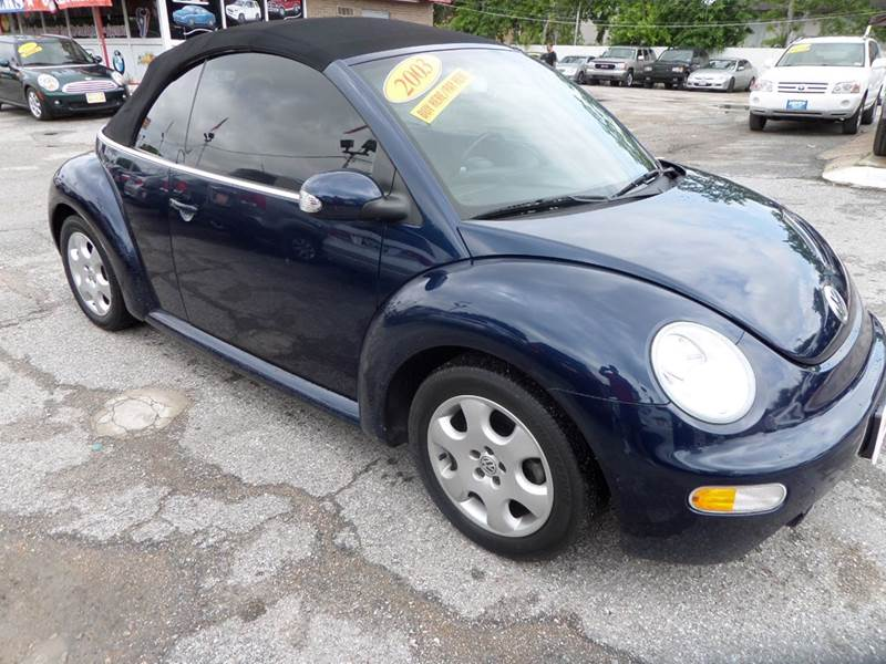 2003 VOLKSWAGEN NEW BEETLE GLS 2DR CONVERTIBLE blue nobody walks is our signature motto and tha