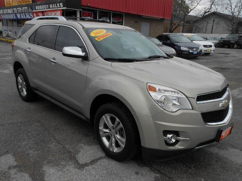 2010 CHEVROLET EQUINOX LTZ 4DR SUV gold mist metallic tu tone leather and fully loaded equipment w
