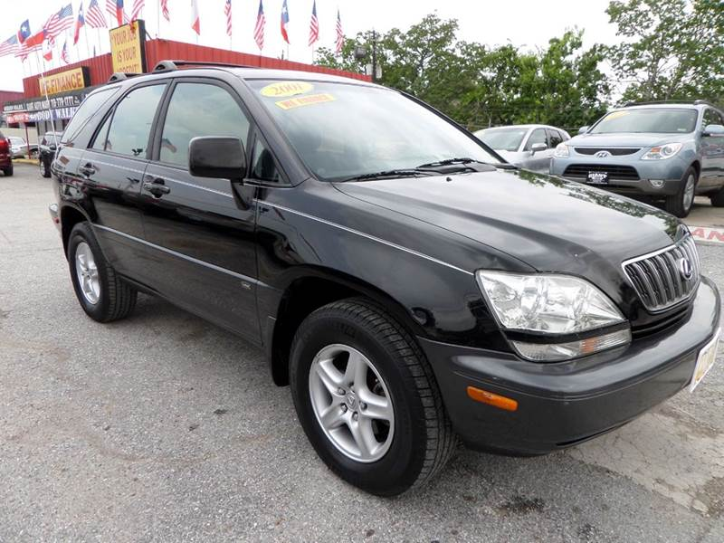 2001 LEXUS RX 300 BASE 2WD 4DR SUV black extra clean suv inside and outlooks great drives th