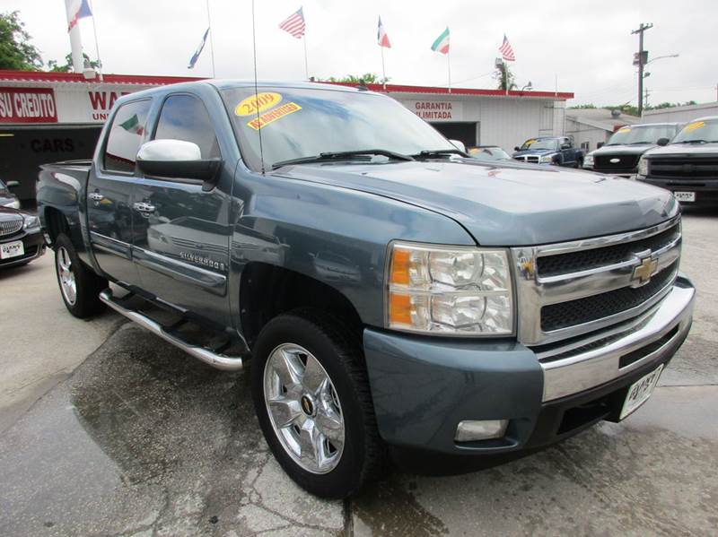 2009 CHEVROLET SILVERADO 1500 LT 4X2 4DR CREW CAB 58 FT SB blue 2 owner vehicle history  v