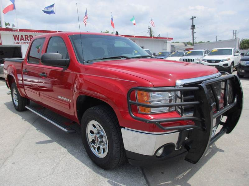 2008 GMC SIERRA 1500 SLE1 2WD 4DR CREW CAB 58 FT SB red nobody walks is our signature motto a