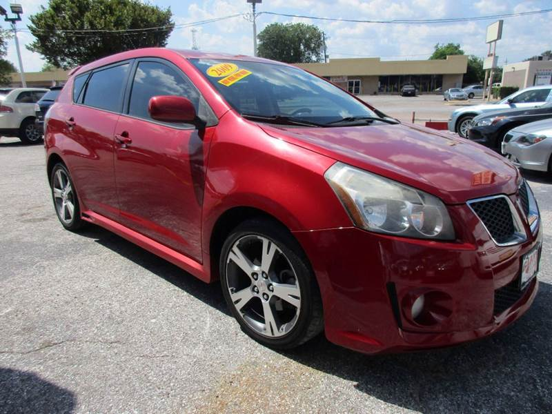2009 PONTIAC VIBE GT 4DR WAGON red hot metallic 5 door hatchback that exudes personality and versa