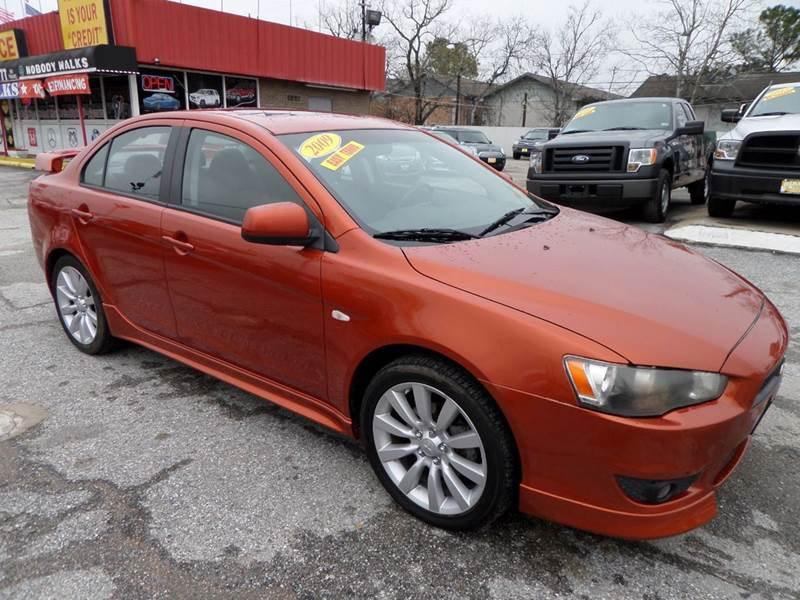 2009 MITSUBISHI LANCER GTS 4DR SEDAN CVT bimini orange sunset 2-stage unlocking doors abs - 4-wh