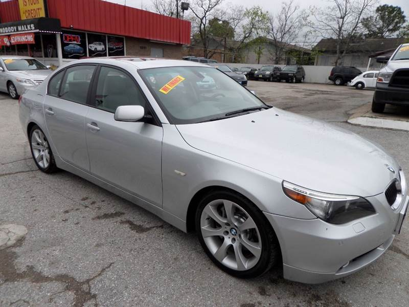 2005 BMW 5 SERIES 545I 4DR SEDAN silver nobody walks is our signature motto and that simply mea