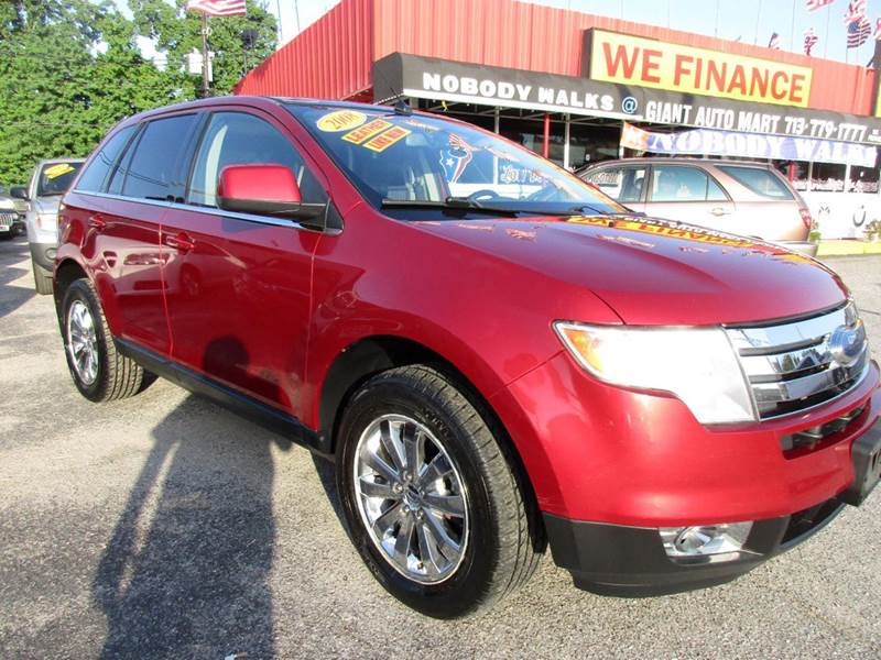2008 FORD EDGE LIMITED AWD 4DR SUV redfire metallic limited edition great packagedual sunroof and