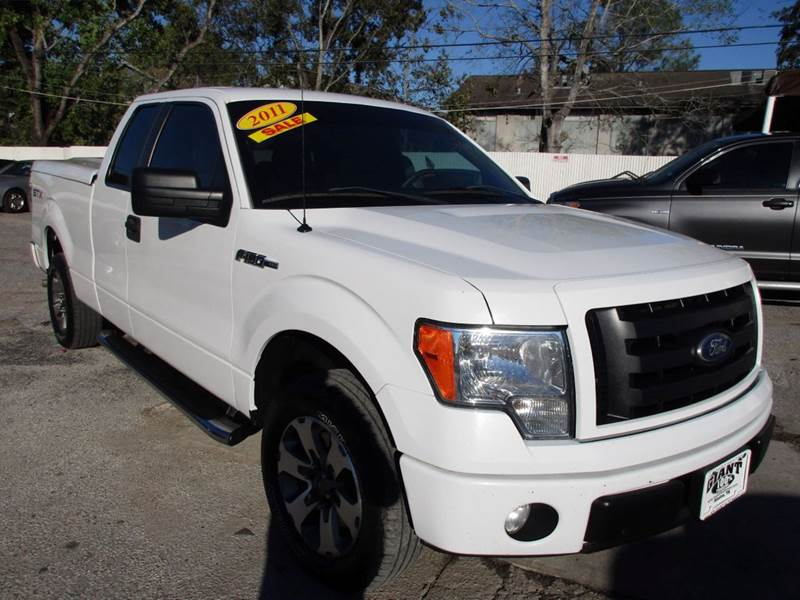 2011 FORD F-150 STX 4X2 4DR SUPERCAB STYLESIDE 6 white nobody walks is our signature motto and t
