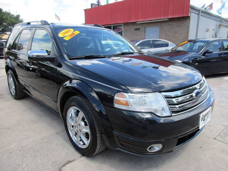 2008 FORD TAURUS X LIMITED 4DR WAGON black 3rd row leather seating navigation and much much more