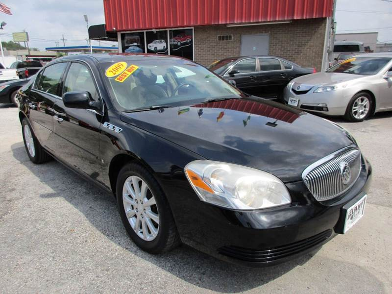 2009 BUICK LUCERNE CXL 4DR SEDAN W3XL black fully loaded and full size ride that right now is pro