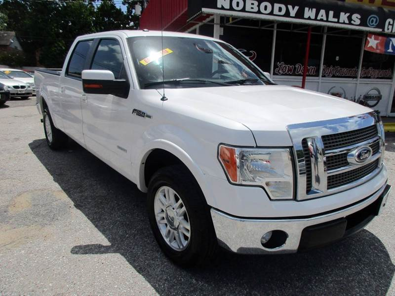 2011 FORD F-150 LARIAT 4X2 4DR SUPERCREW STYLESI white 1 owner good vehicle history 4 door supercr