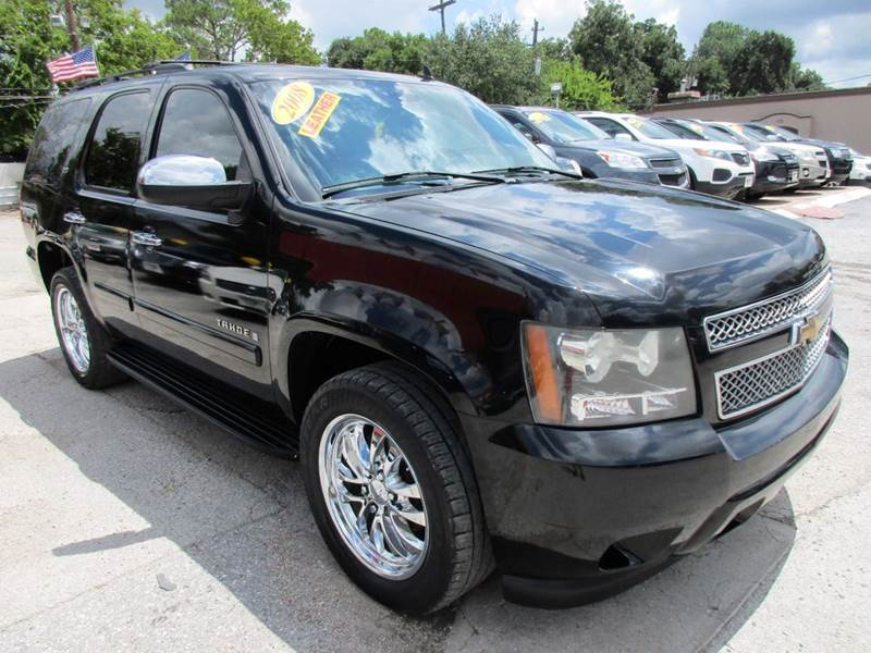 2008 CHEVROLET TAHOE LTZ 4X2 4DR SUV black 3 rd row ltz packagenavigationdvdsunroofleather8
