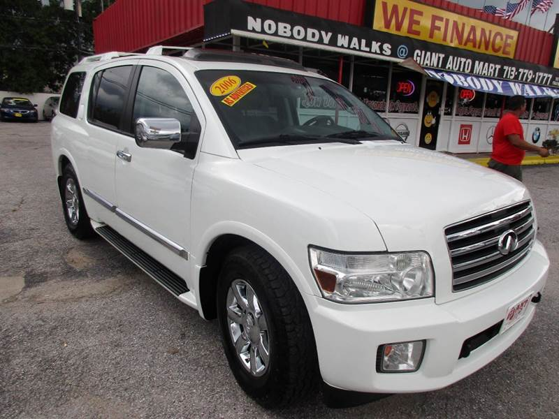2006 INFINITI QX56 4DR SUV white great looking and driving suvwith all the options that your loo