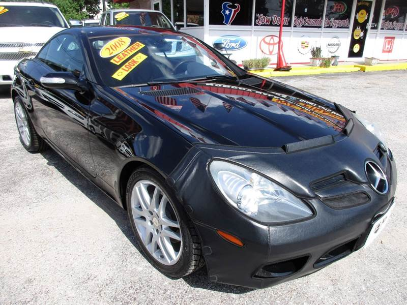 2008 MERCEDES-BENZ SLK SLK280 2DR CONVERTIBLE black low miles and a must see carbest small spo