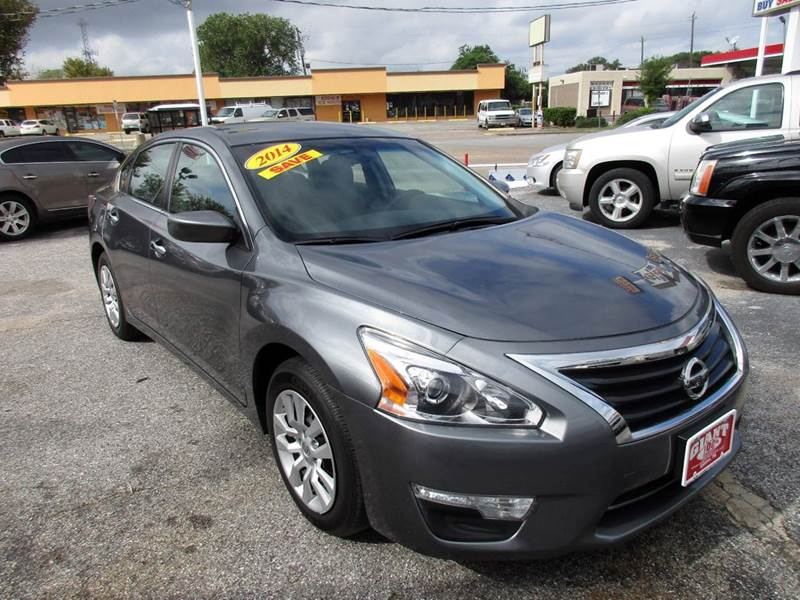 2014 NISSAN ALTIMA 25 S 4DR SEDAN gray 2-stage unlocking doors abs - 4-wheel active head restra