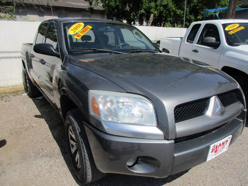 2008 MITSUBISHI RAIDER LS 4X2 4DR DOUBLE CAB charcoal 2-stage unlocking doors abs - rear airbag