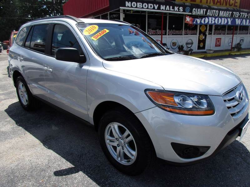 2010 HYUNDAI SANTA FE GLS AWD 4DR SUV 6A radiant silver metallic awd and a most excellent conditio
