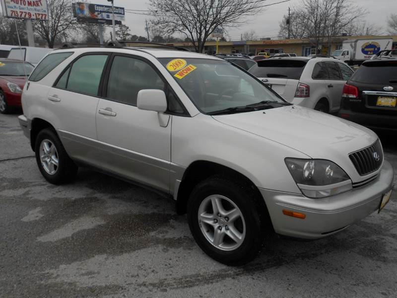 2000 LEXUS RX 300 BASE 4DR SUV white nobody walks is our signature motto and that simply means