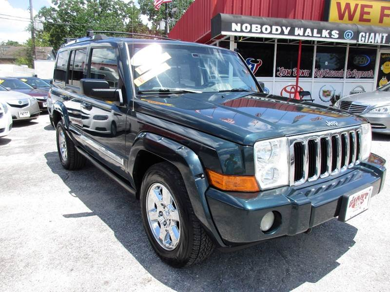 2006 JEEP COMMANDER LIMITED 4DR SUV 4WD green trail rated edition with 4x4 hemi navigation sunroof