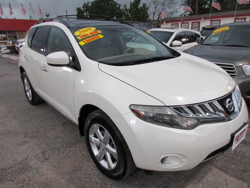 2009 NISSAN MURANO SL 4DR SUV white sl package leather dual sunroofs back up camera very nice cond