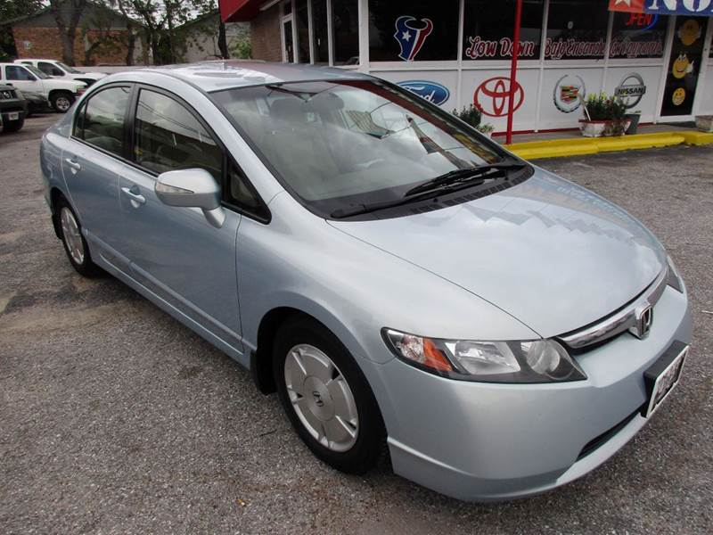 2008 HONDA CIVIC HYBRID 4DR SEDAN blue honda civic hybrid 4 door very nice car inside and out and